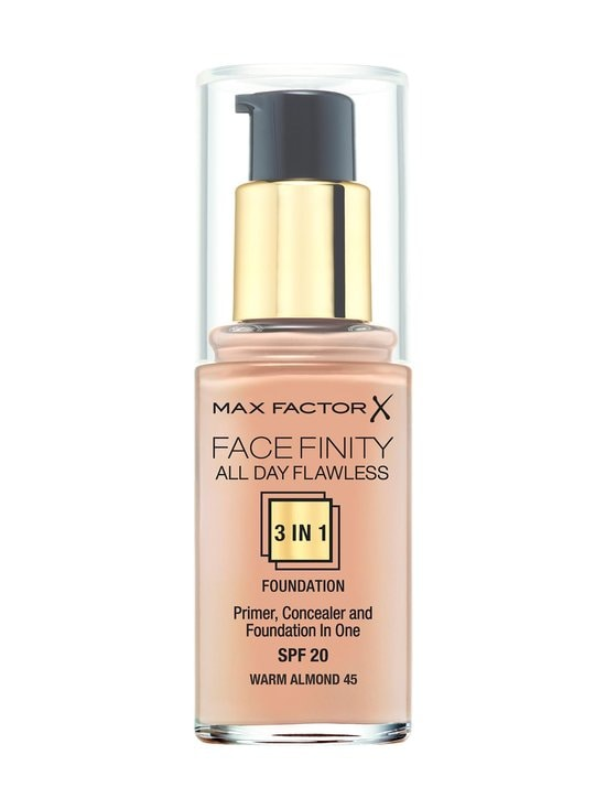 Max Factor - Facefinity All Day Flawless 3 in 1 -meikkivoide 30 ml - 45 WARM ALMOND | Stockmann - photo 1