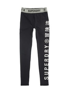 Superdry Sport - Training Elastic -leggingsit - 02A BLACK | Stockmann