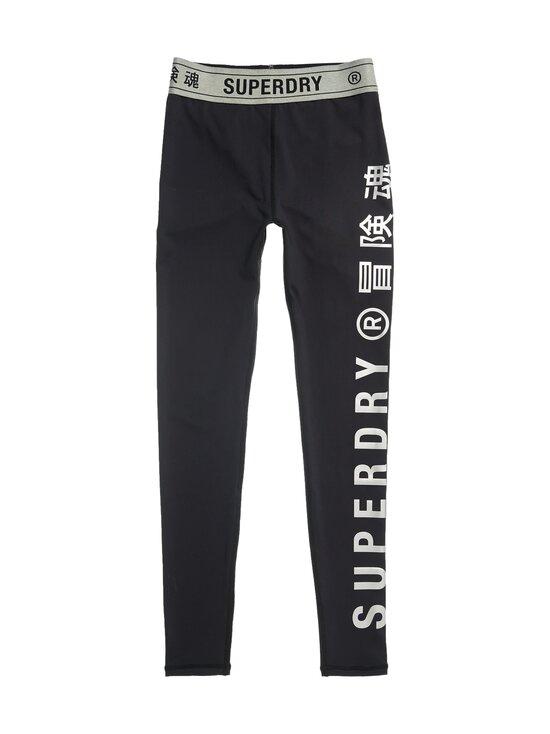 Superdry Sport - Training Elastic -leggingsit - 02A BLACK   Stockmann - photo 1