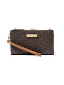 Michael Michael Kors - Jet Set Double Zip Wristlet -lompakko - BROWN | Stockmann