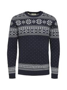 Selected - SlhFlake Pattern Crew Neck -puuvillaneule - SKY CAPTAIN DETAIL:EGRET | Stockmann