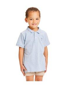 Knowledge Cotton Apparel - Basil Basic Polo -pikeepaita - 1259 SKY WAY MELANGE | Stockmann