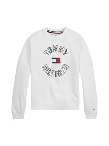 Tommy Hilfiger - Sequins Sweatshirt -collegepaita - YBR WHITE   Stockmann