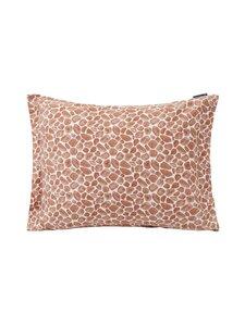 Lexington - Printed Giraffe organic cotton sateen pillowcase -tyynynpäällinen 50 x 60 cm - 1621 DK BEIGE/WHITE | Stockmann