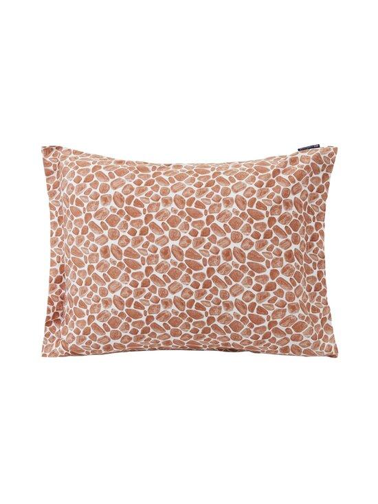 Lexington - Printed Giraffe organic cotton sateen pillowcase -tyynynpäällinen 50 x 60 cm - 1621 DK BEIGE/WHITE | Stockmann - photo 1