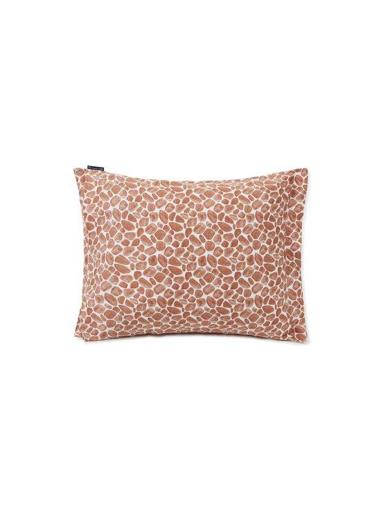 Lexington - Printed Giraffe organic cotton sateen pillowcase -tyynynpäällinen 50 x 60 cm - 1621 DK BEIGE/WHITE | Stockmann - photo 2