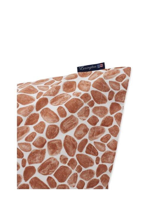 Lexington - Printed Giraffe organic cotton sateen pillowcase -tyynynpäällinen 50 x 60 cm - 1621 DK BEIGE/WHITE | Stockmann - photo 3