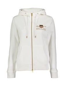 GANT - Archive Shield Full Zip Hoodie -huppari - 113 EGGSHELL | Stockmann