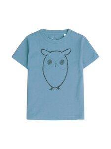 Knowledge Cotton Apparel - Flax Owl Tee -paita - 1322 ASLEY BLUE | Stockmann