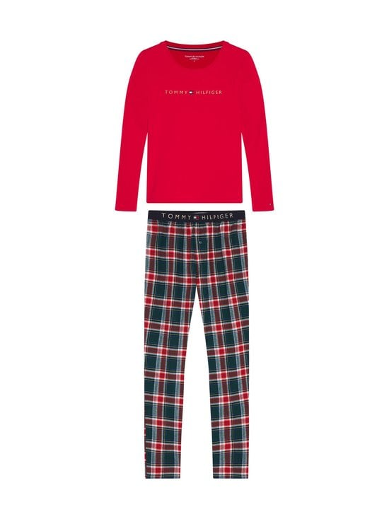 Tommy Hilfiger - Set LS Flannel Pant Holiday -pyjama - 0WL PRIMARY RED/CYPRESS GREEN   Stockmann - photo 1