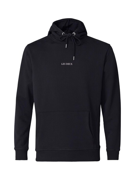 Les Deux - Lens Hoodie -huppari - 100201 - BLACK/WHITE | Stockmann - photo 1