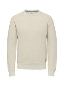 Selected - SlhIrving-puuvillaneule - BONE WHITE DETAIL:MELANGE | Stockmann