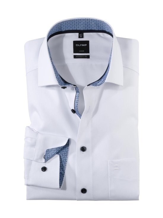 Olymp - Modern Fit -kauluspaita - 00 WHITE W/BLUE | Stockmann - photo 1