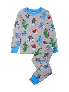 Hatley - Back To School Monsters -pyjama - ATHLETIC GREY MELANGE | Stockmann