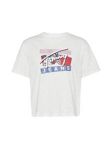 Tommy Jeans - TJW Signature Logo Tee -paita - YBR WHITE | Stockmann