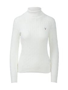 GANT - Stretch Cotton Cable Turtleneck -pooloneule - 113 EGGSHELL | Stockmann