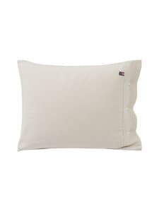 Lexington - Striped organic cotton flannel pillowcase -tyynynpäällinen 50 x 60 cm - 2610 BEIGE/OFFWHITE | Stockmann