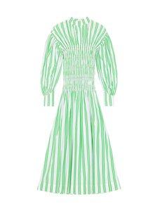 Ganni - Stripe Cotton Dress -mekko - KELLY GREEN | Stockmann
