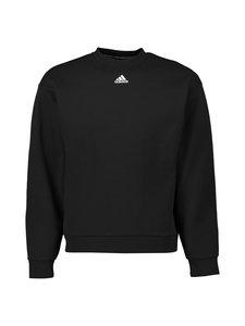 adidas Performance - MH 3-Stripes Crew -collegepaita - BLACK/WHITE | Stockmann