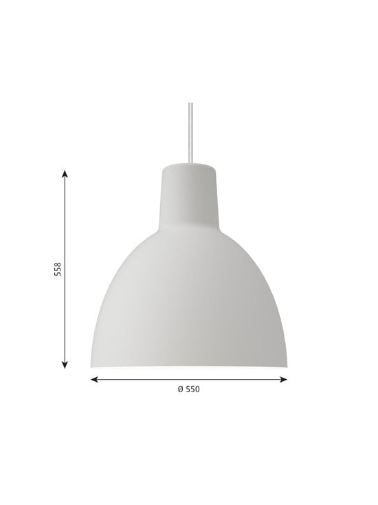 Louis Poulsen - Toldbod-riippuvalaisin Ø 55 cm - WHITE | Stockmann - photo 2