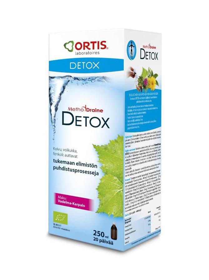 MethodDraine Detox -puhdistuskuuri, vadelma-karpalo 250 ml