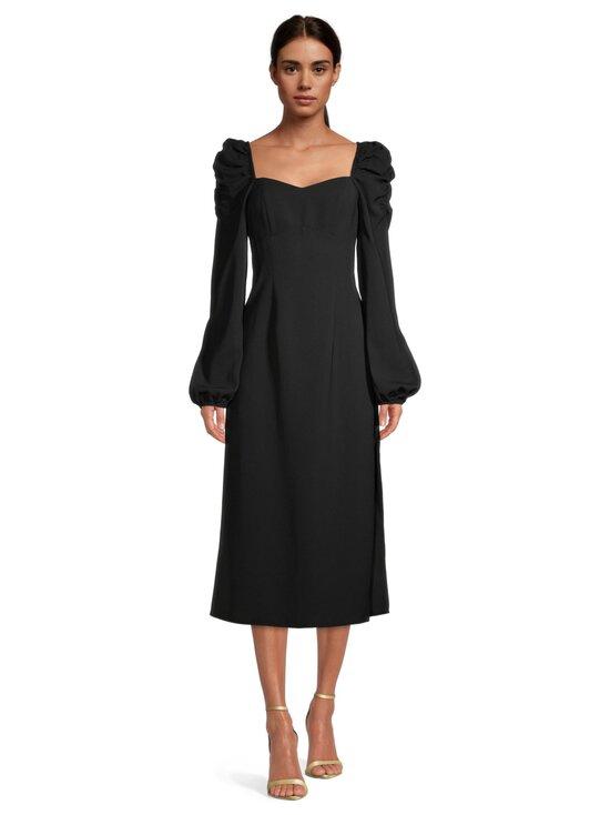NA-KD - Puff Shoulder Midi Dress -mekko - BLACK | Stockmann - photo 2