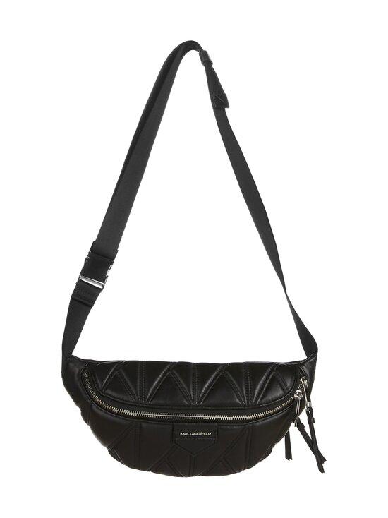 Karl Lagerfeld - K/Studio Zip Bumbag -nahkalaukku - A994 BLACK/NICKEL | Stockmann - photo 1