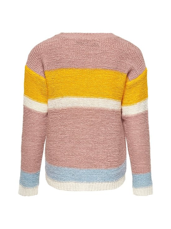 KIDS ONLY - KonMacy L/S Pullover -neule - ROSE SMOKE STRIPES:W. SOLAR POWER/CLOUD DANCER/CASHMERE BLUE | Stockmann - photo 2