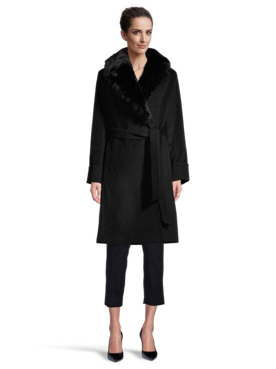 Lauren Ralph Lauren - Wool Wrap Coat -villakangastakki - 2WAH BLACK   Stockmann - photo 2