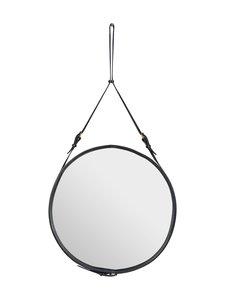 Gubi - Adnet Wall Mirror Circular -peili ⌀ 70 cm - BLACK LEATHER | Stockmann