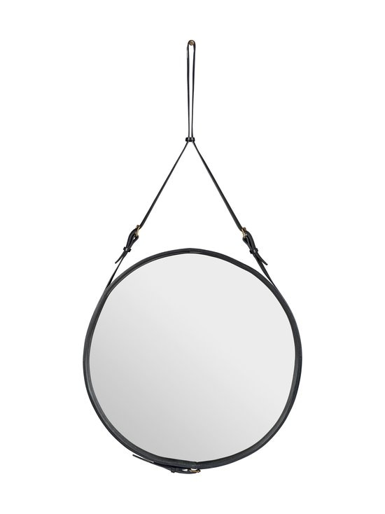 Gubi - Adnet Wall Mirror Circular -peili ⌀ 70 cm - BLACK LEATHER | Stockmann - photo 1