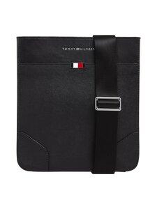 Tommy Hilfiger - Business Leather Crossover -nahkalaukku - BDS BLACK | Stockmann