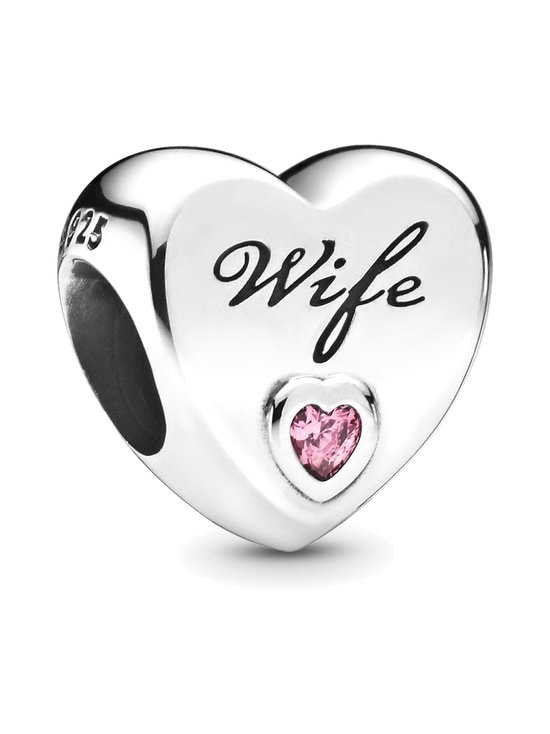 Pandora - Wife Heart Sterling Silver Charm -koru - PINK | Stockmann - photo 1