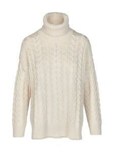 NA-KD - Big Polo Neck Cable Knitted -neule - OFF WHITE | Stockmann