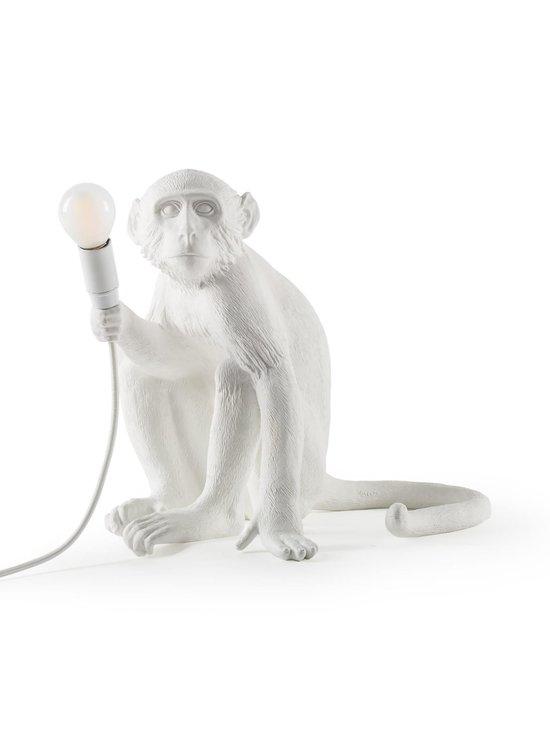 Seletti - Monkey Lamp Sitting -pöytävalaisin - VALKOINEN | Stockmann - photo 1