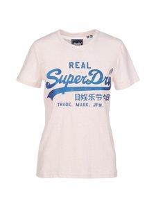 Superdry - Vintage Logo Glitter Embossed T-Shirt -paita - 0ZS CHALK PINK SNOWY | Stockmann