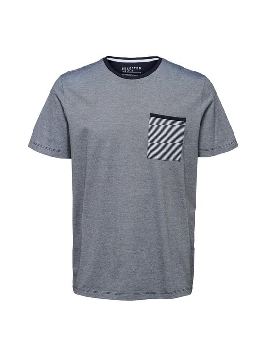Selected - SlhRegnewpoe SS O-Nect Tee -paita - NIGHT SKY | Stockmann - photo 1