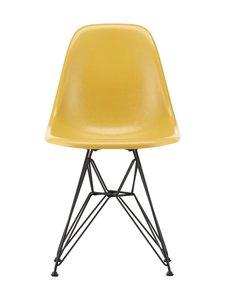Vitra - Eames DSR Fiberglass -tuoli - 30 BLACK/ LIGHT OCHRE 07 | Stockmann