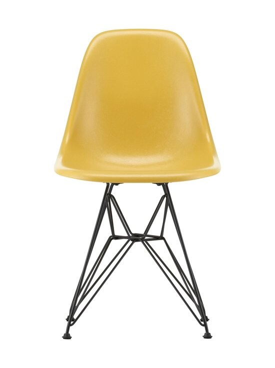 Vitra - Eames DSR Fiberglass -tuoli - 30 BLACK/ LIGHT OCHRE 07 | Stockmann - photo 1
