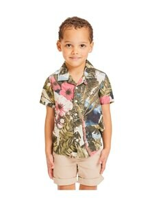 Knowledge Cotton Apparel - Hebe Loose Fit Hawaii Printed Shirt -paita - 1090 FORREST NIGHT | Stockmann