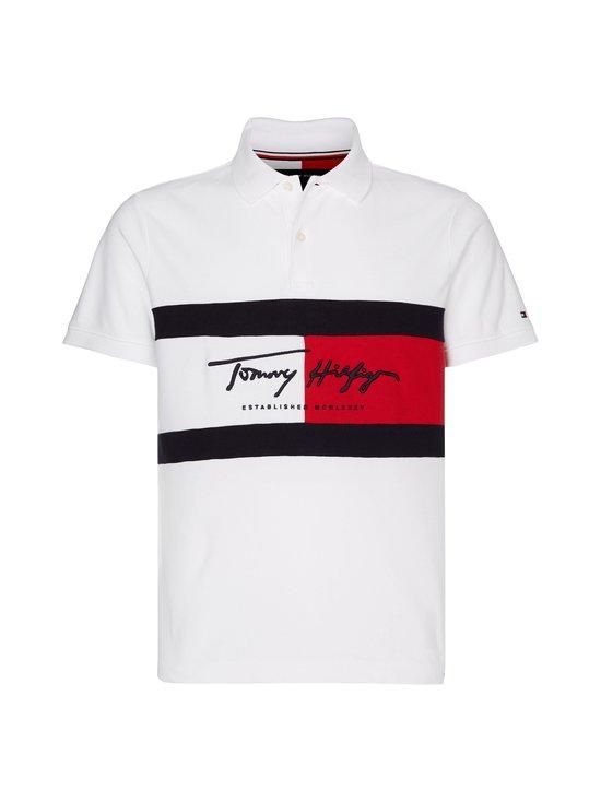 Tommy Hilfiger - Colour-Blocked Slim Fit Polo -pikeepaita - YBR WHITE | Stockmann - photo 1
