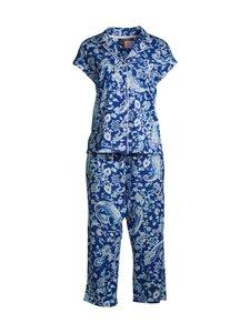 Lauren Ralph Lauren - Paisley Cotton Capri -pyjama - 936 BLUE PAIS | Stockmann