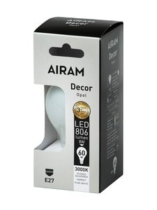 Airam - LED Decor Classic Opal 8W E27 -lamppu - VALKOINEN | Stockmann
