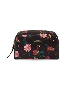 WOUF - Black Flowers Big -kosmetiikkalaukku - MULTICOLOR | Stockmann