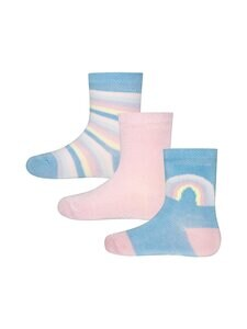 Ewers - Rainbow-sukat 3-pack - 2 PINK, BLUE, WHITE, YELLOW | Stockmann