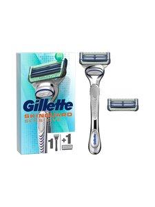 Gillette - Skinguard Sensitive Aloe handle + 2 blades -partahöylä + 2 vaihtoterää | Stockmann