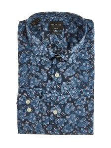 Selected - SlhSlimPen-kauluspaita - FEDERAL BLUE AOP:MULTI COLORS | Stockmann