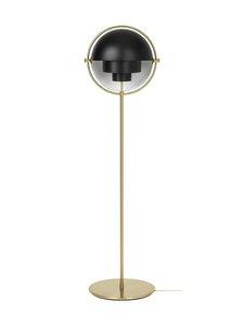 Gubi - Multi-Lite Floor Lamp -lattiavalaisin - SOFT BLACK SEMI MATT | Stockmann