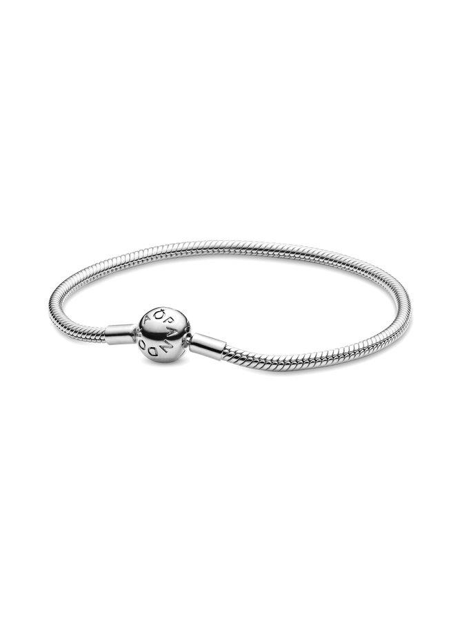 Snake Chain Silver -rannekoru