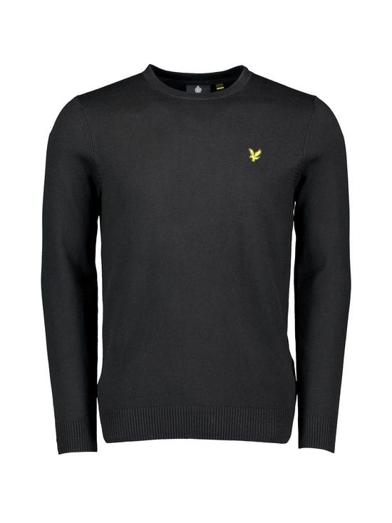 Lyle & Scott - Cotton Merino Crew -neulepaita - Z865 JET BLACK | Stockmann - photo 1